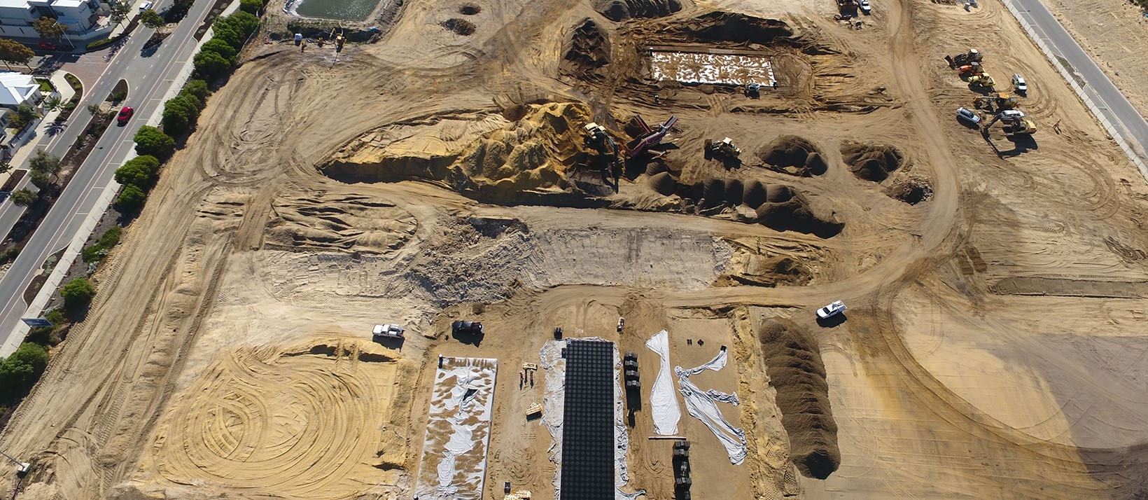 Aerial view of the site at Shorehaven Primary School